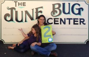 Heather Krantz and her daughter Jasmine at the June Bug Center
